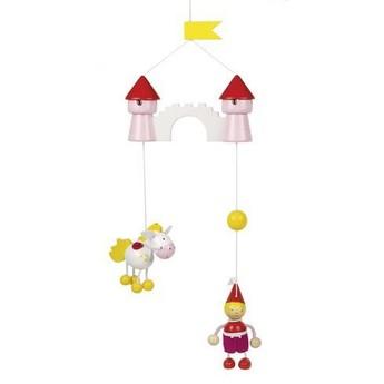 Dětský pokojíček - Malá princezna a jednorožec – závěsná dekorace