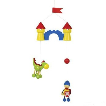 Dětský pokojíček - Malý rytíř a drak – závěsná dekorace