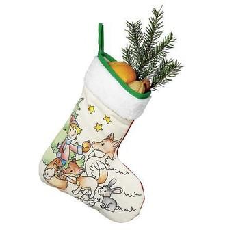 Výtvarné a kreativní hračky - Vánoční holínka, punčocha k vymalování - Chlapec