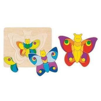 Puzzle - Vícevrstvé puzzle – Motýlek