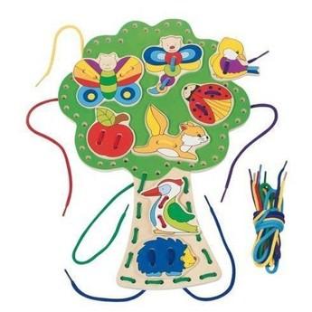 Motorické a didaktické hračky - Provlékací hračka – Strom
