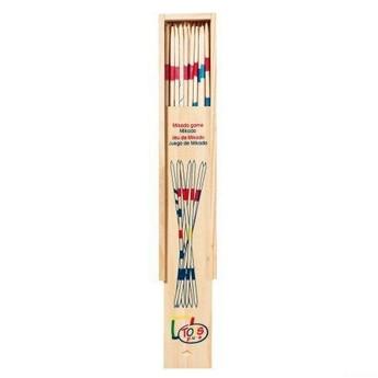 Hry a hlavolamy - Mikádo v dřevěné krabičce, 18 cm