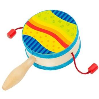 Dětské hudební nástroje - Bubínek s rukojetí duhový