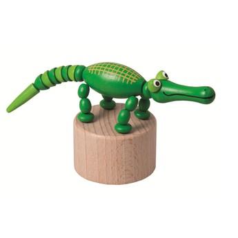 Motorické a didaktické hračky - Mačkací figurka Krokodýl