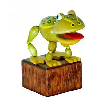 Motorické a didaktické hračky - Mačkací figurka Žába