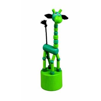 Motorické a didaktické hračky - Mačkací figurka Žirafa zelená