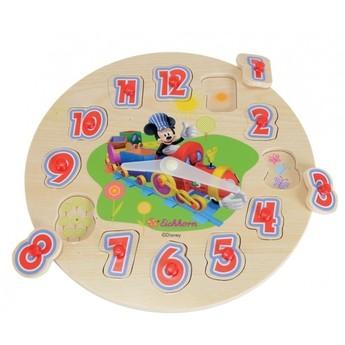 Školní potřeby - Puzzle hodiny Mickey Mouse