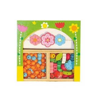 Pro holky - Navlékací  korálky Květinky