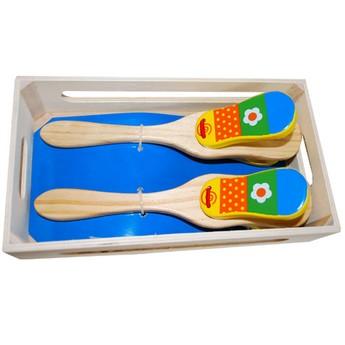 Dětské hudební nástroje - Kastaněty květinka