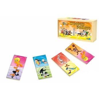 Hry a hlavolamy - Dřevěné domino Looney Tunes, 28 ks
