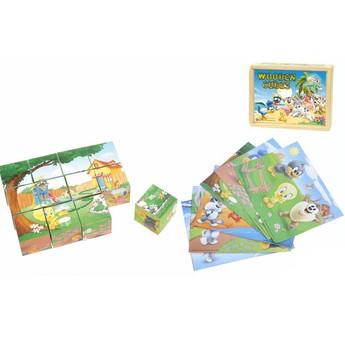 Dřevěné kostky Looney Tunes Baby 12 ks