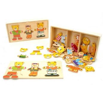 Puzzle - Puzzle šatní skříň Medvědí rodina