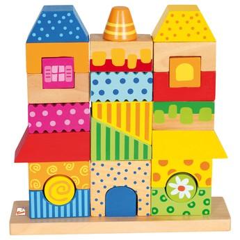 Kostky a stavebnice - Skládanka domeček