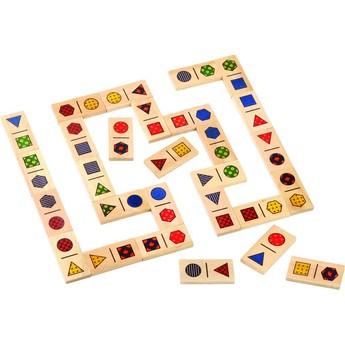 Hry a hlavolamy - Dřevěné domino Tvary