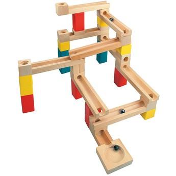 Motorické a didaktické hračky - Stavba – kuličková dráha, 33 ks