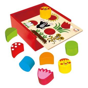 Motorické a didaktické hračky - Krabička s tvary - Krtek