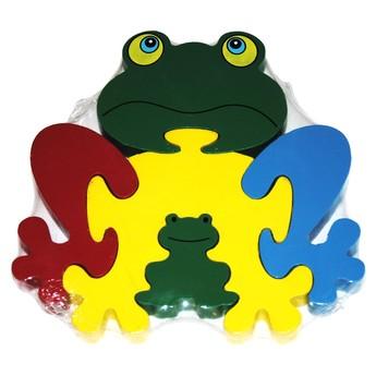 Puzzle - Dřevěné puzzle Žába