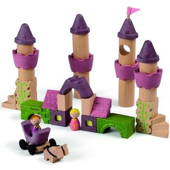 Kostky a stavebnice - Dřevěné kostky Zámek