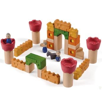Kostky a stavebnice - Dřevěné kostky Rytířský zámek