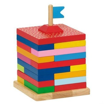 Motorické a didaktické hračky - Skládací dům – hlavolam, 22 dílů