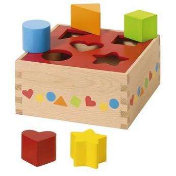 Vkládačka ze dřeva, základní tvary