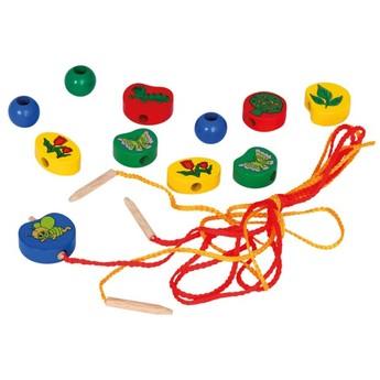 Motorické a didaktické hračky - Navlékací korálky - 40 ks