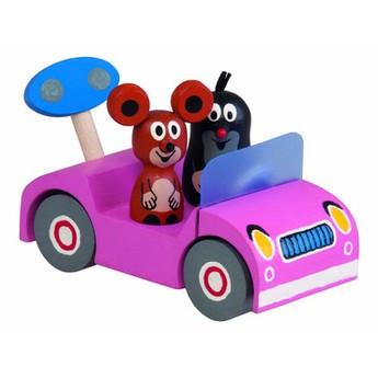 Pro holky - Krtek na výletě - růžové auto