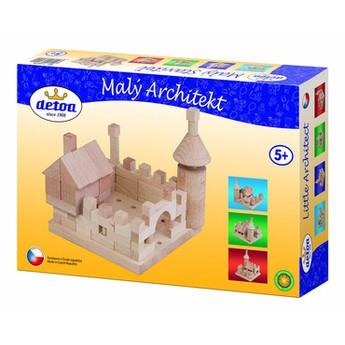 Kostky a stavebnice - Dřevěná stavebnice Malý architekt