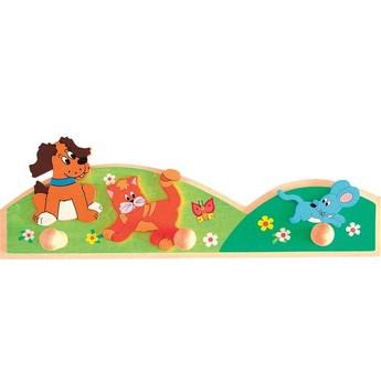 Dětský pokojíček - Dřevěný věšák Zvířátka