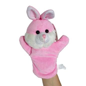 Maňásek na ruku Zajíček růžový
