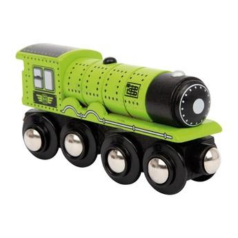 Pro kluky - Příslušenství k vlačkodráze - Lokomotiva zelená