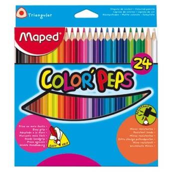 Výtvarné a kreativní hračky - Trojhranné pastelky 24 ks