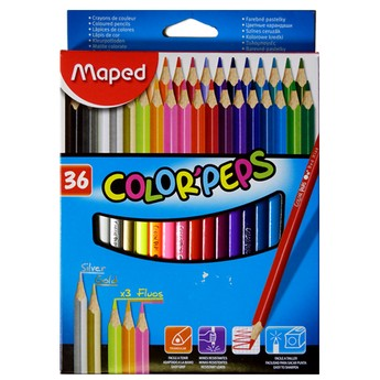 Výtvarné a kreativní hračky - Trojhranné pastelky 36 ks