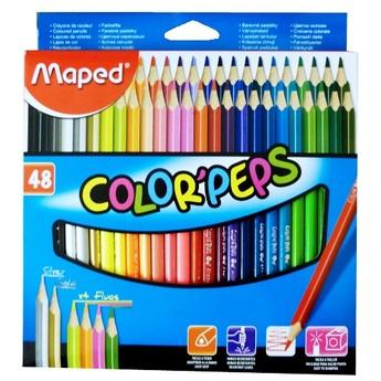 Výtvarné a kreativní hračky - Trojhranné pastelky 48 ks