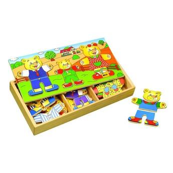 """Puzzle - Puzzle šatní skříň """"3 medvědi"""""""