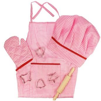 Pro holky - Kuchařská sada šéfkuchařky, růžová