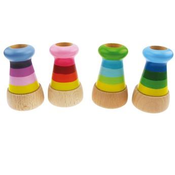Pro holky - Dřevěný kalejdoskop, mix barev