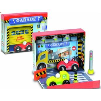 Pro kluky - Dřevěné autíčka v boxu - Autoservis