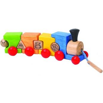 Motorické a didaktické hračky - Navlékací vláček