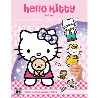 Výtvarné a kreativní hračky - Zábava se samolepkami Hello Kitty Zvířata
