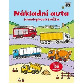 Výtvarné a kreativní hračky - Samolepková knížka - Nákladní auta