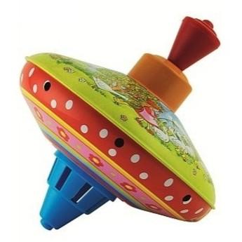 Plechové hračky - Hrající káča Vše v pohybu - Husopaska