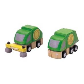 Pro kluky - Popelářský a čistící vůz, 2 ks