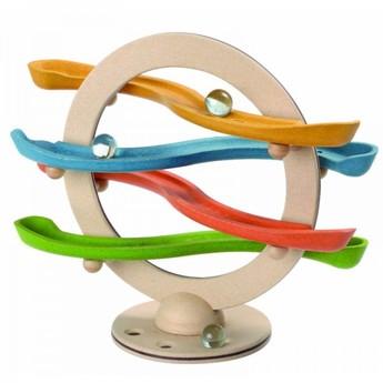 Motorické a didaktické hračky - Cvakací kuličková dráha