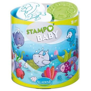 Výtvarné a kreativní hračky - Dětská razítka Mořská zvířata - od 18ti měsíců