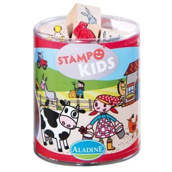 Výtvarné a kreativní hračky - Dětská razítka Myška Lily na farmě