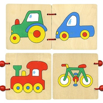 Pro nejmenší - Dřevěná knížka - Dopravní prostředky