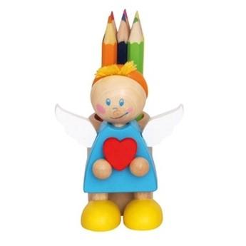 Výtvarné a kreativní hračky - Stojánek na tužky s pastelkami, Anděl modrý