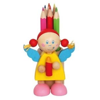 Výtvarné a kreativní hračky - Stojánek na tužky s pastelkami, Anděl žlutý