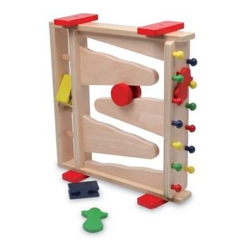 Motorické a didaktické hračky - Kuličková dráha 3v1